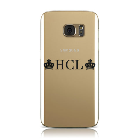 Personalised Black Initials & 2 Crowns Clear Samsung Galaxy Case