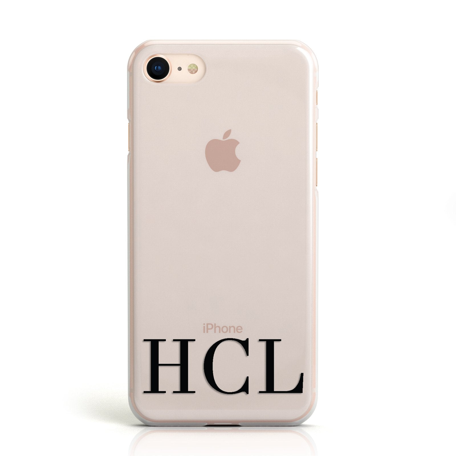 Personalised Black Initials Clear Customised Apple iPhone Case