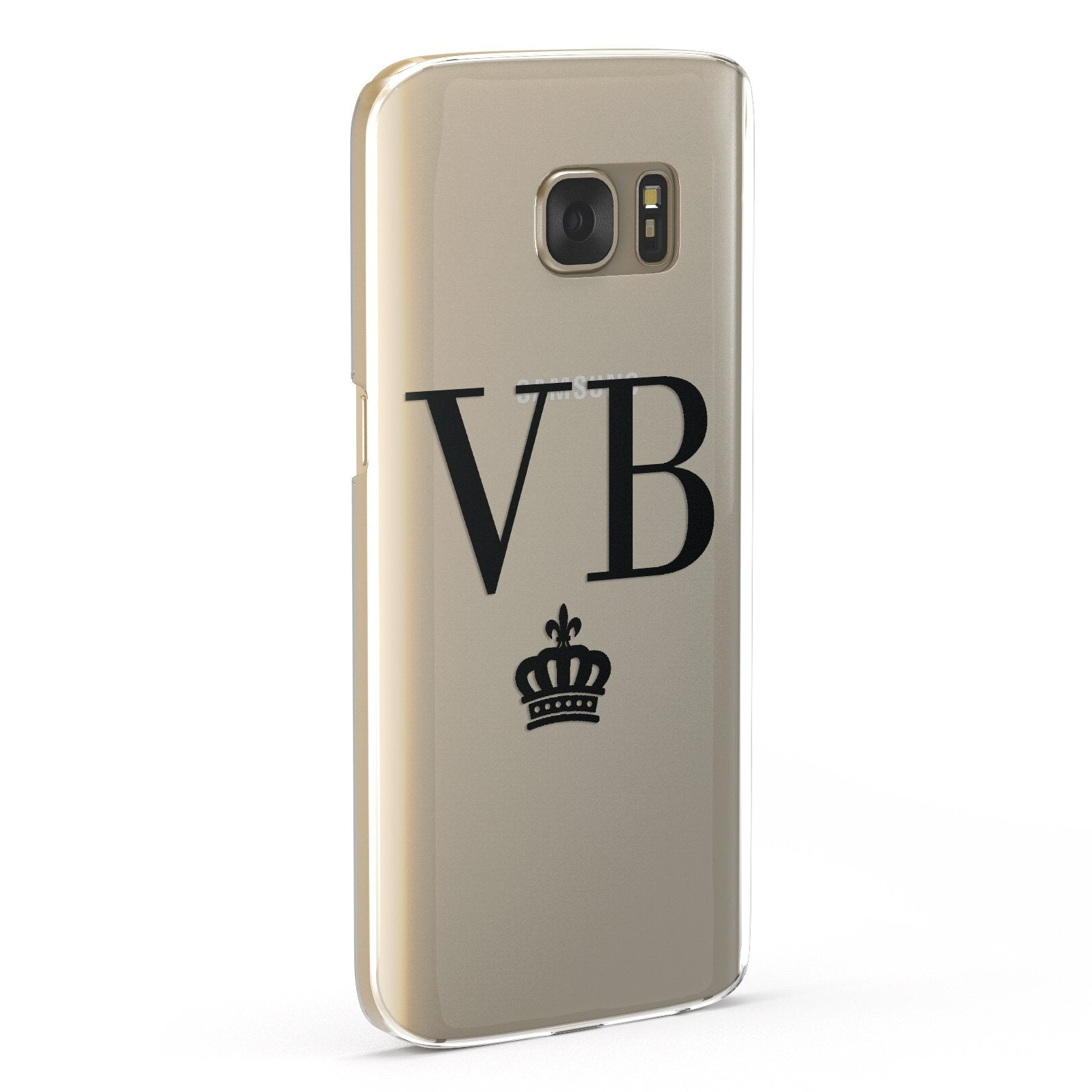 Personalised Black Initials & Crown Clear Google Case Fourty Five Degrees