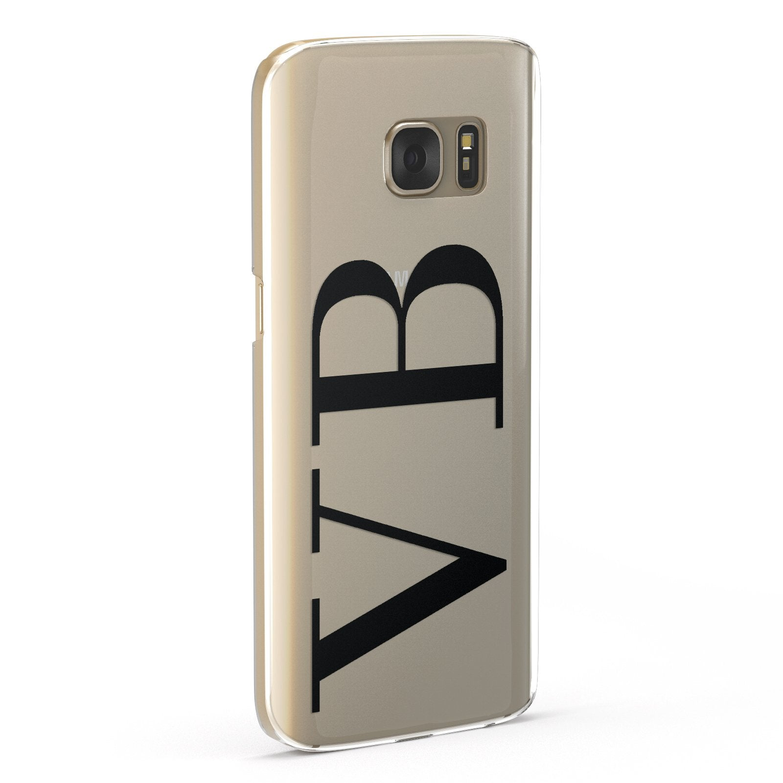 Personalised Black Initials Customised Clear Samsung Galaxy Case Fourty Five Degrees