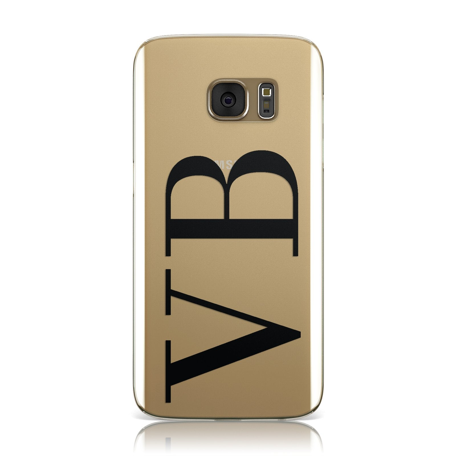 Personalised Black Initials Customised Clear Samsung Galaxy Case