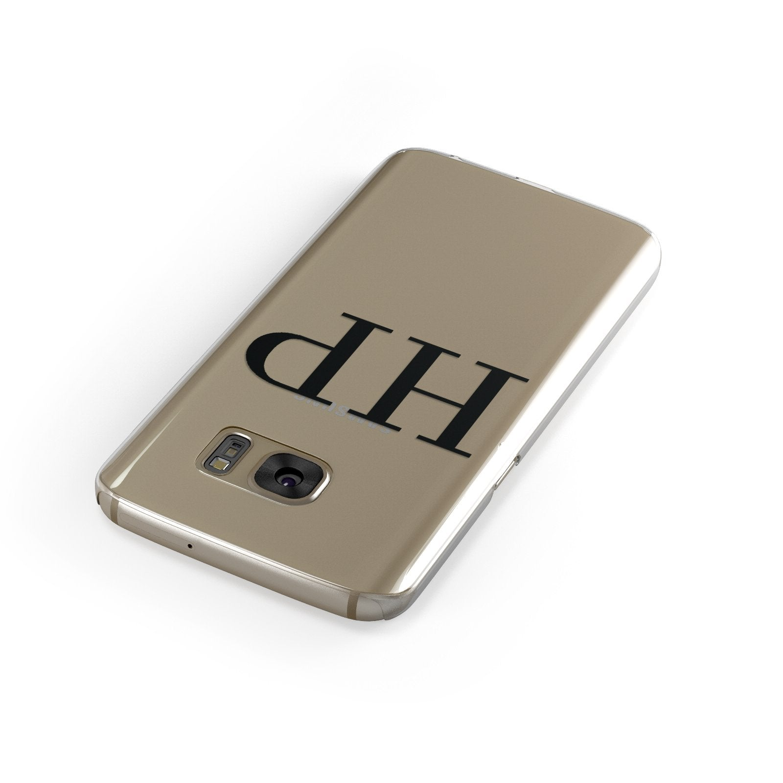 Personalised Black Initials On Clear Google Case Front Close Up