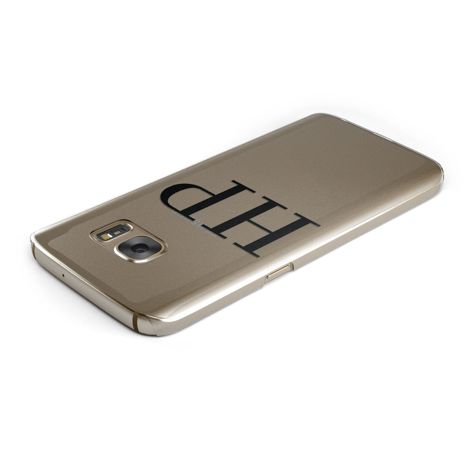 Personalised Black Initials On Clear Google Case Top Cutout