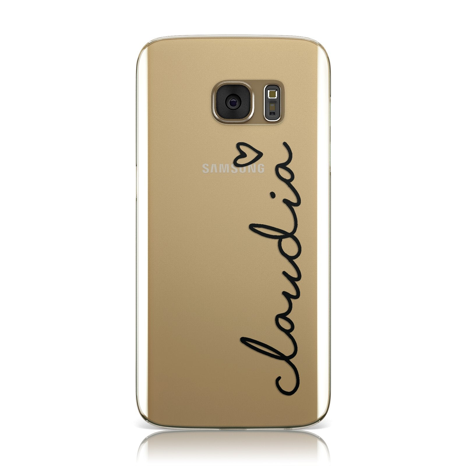 Personalised Black Name & Heart Handwriting Samsung Galaxy Case