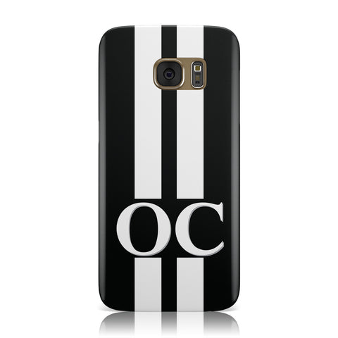 Black Personalised Initials Samsung Galaxy Case