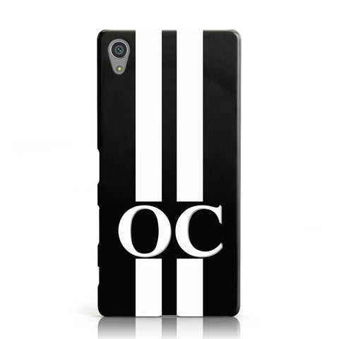 Black Personalised Initials Sony Xperia Case