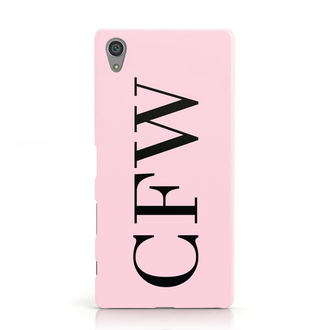 Personalised Black & Pink Side Initials Sony Xperia Case