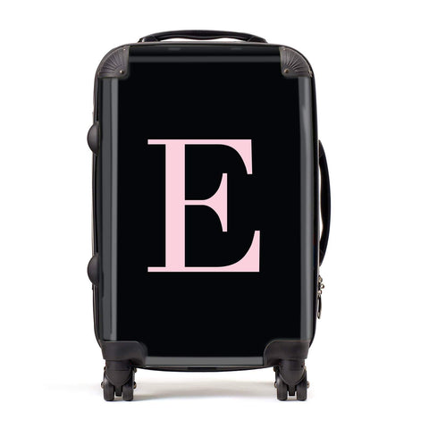Black with Pink Personalised Monogram Suitcase