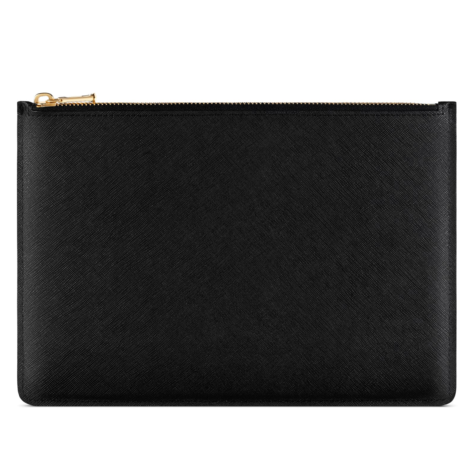 Blank Personalised Black Saffiano Leather Pouch