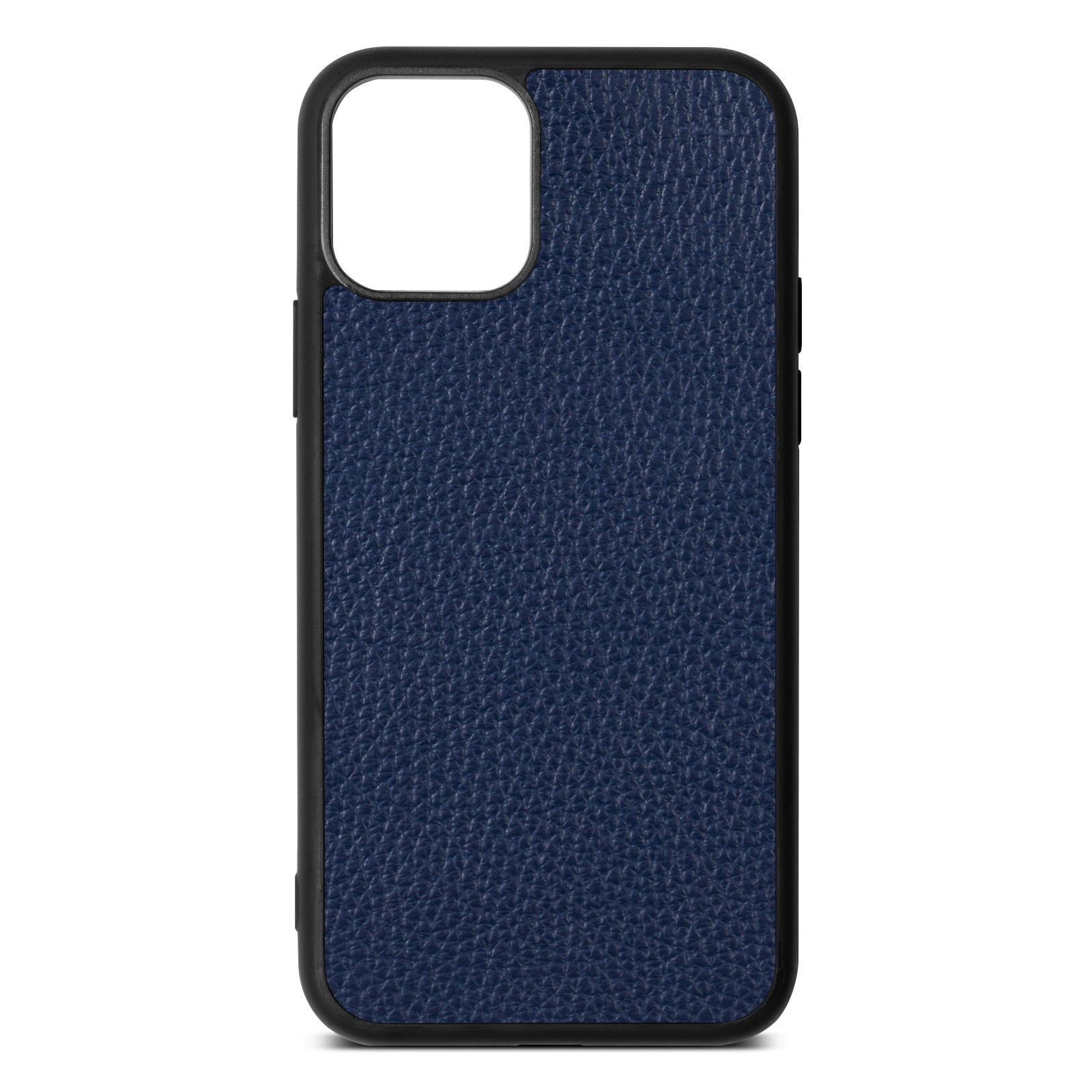 Blank iPhone 11 Navy Blue Pebble Grain Leather Case