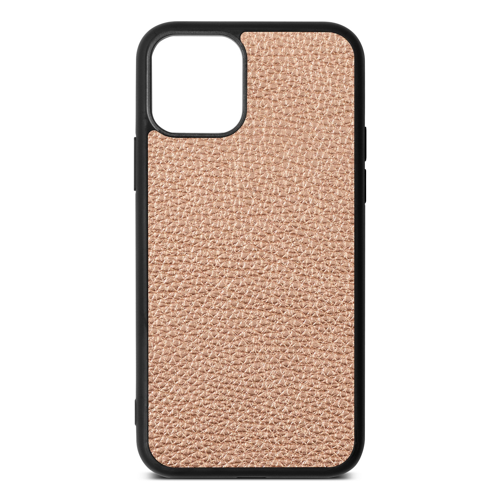 Blank iPhone 11 Rose Gold Pebble Leather Case