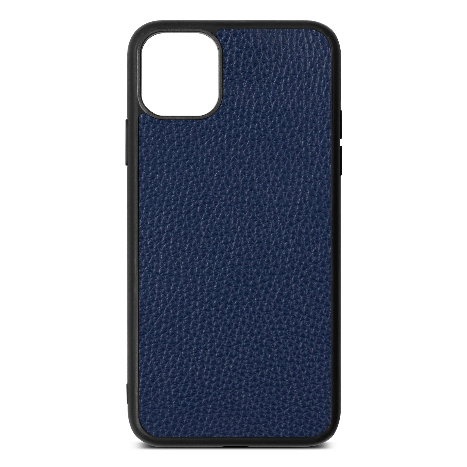 Blank iPhone 11 Pro Max Navy Blue Pebble Grain Leather Case