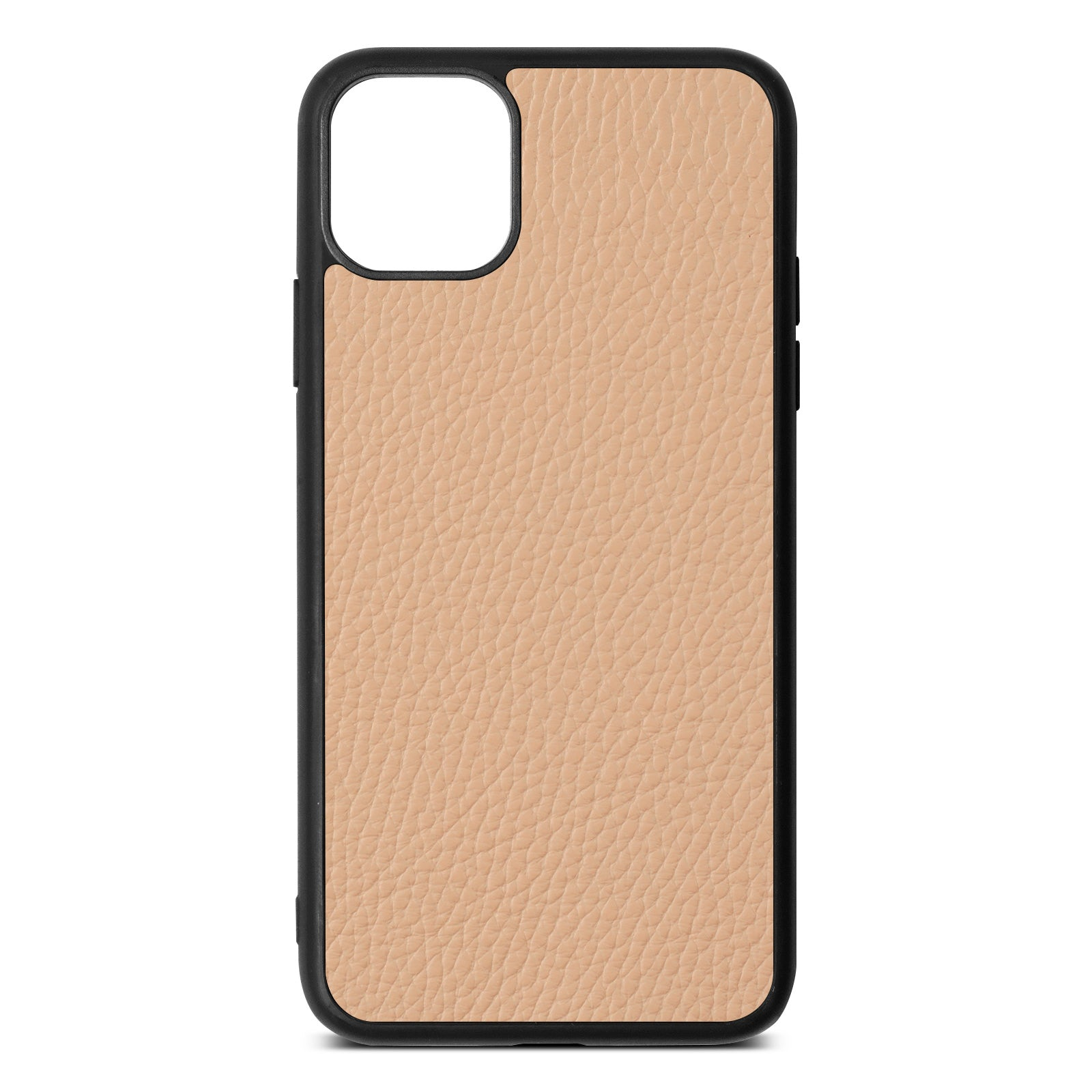 Blank iPhone 11 Pro Max Nude Pebble Leather Case