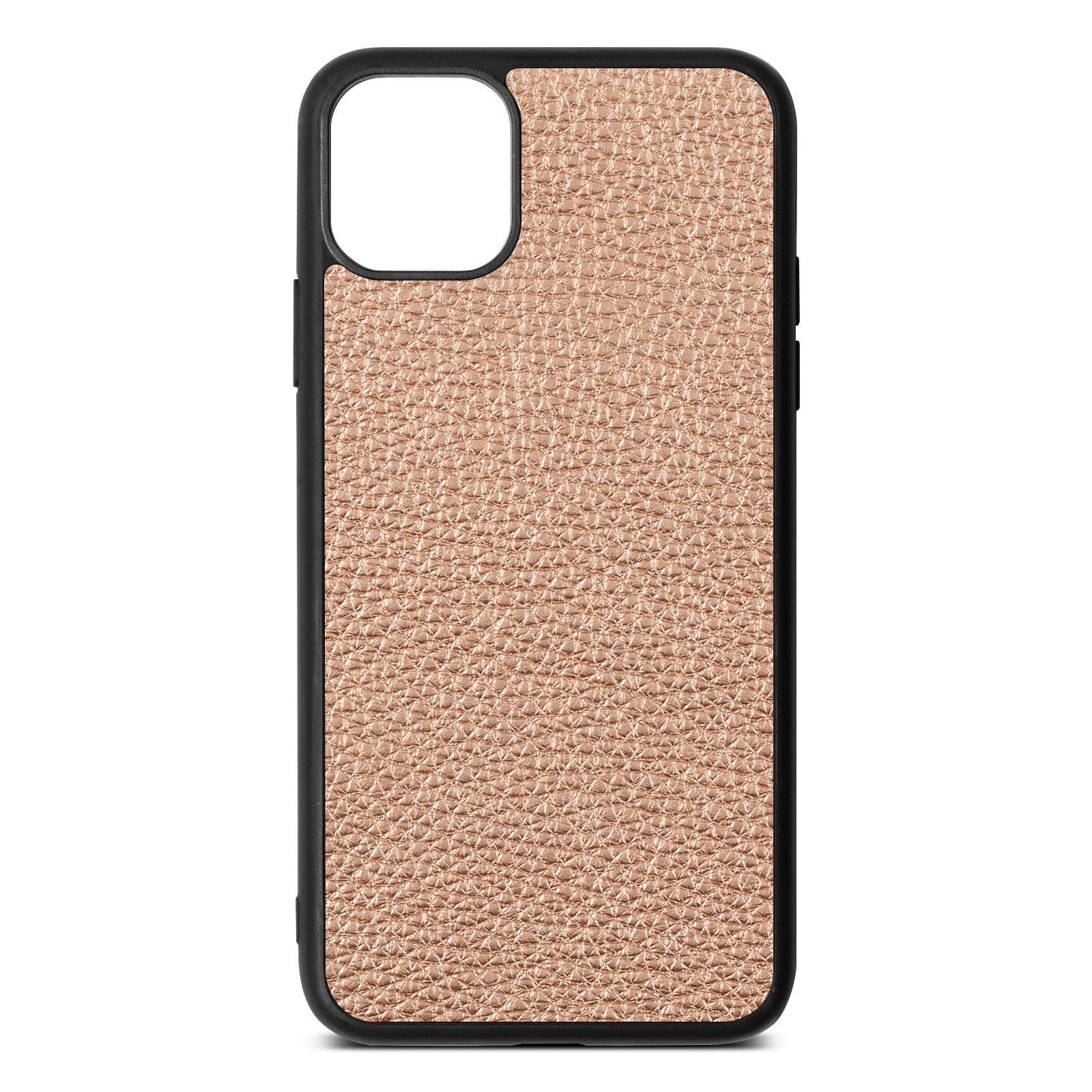 Blank iPhone 11 Pro Max Rose Gold Pebble Leather Case