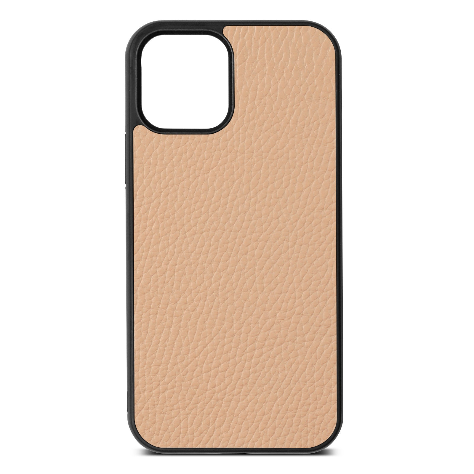 Blank iPhone 12 Nude Pebble Leather Case