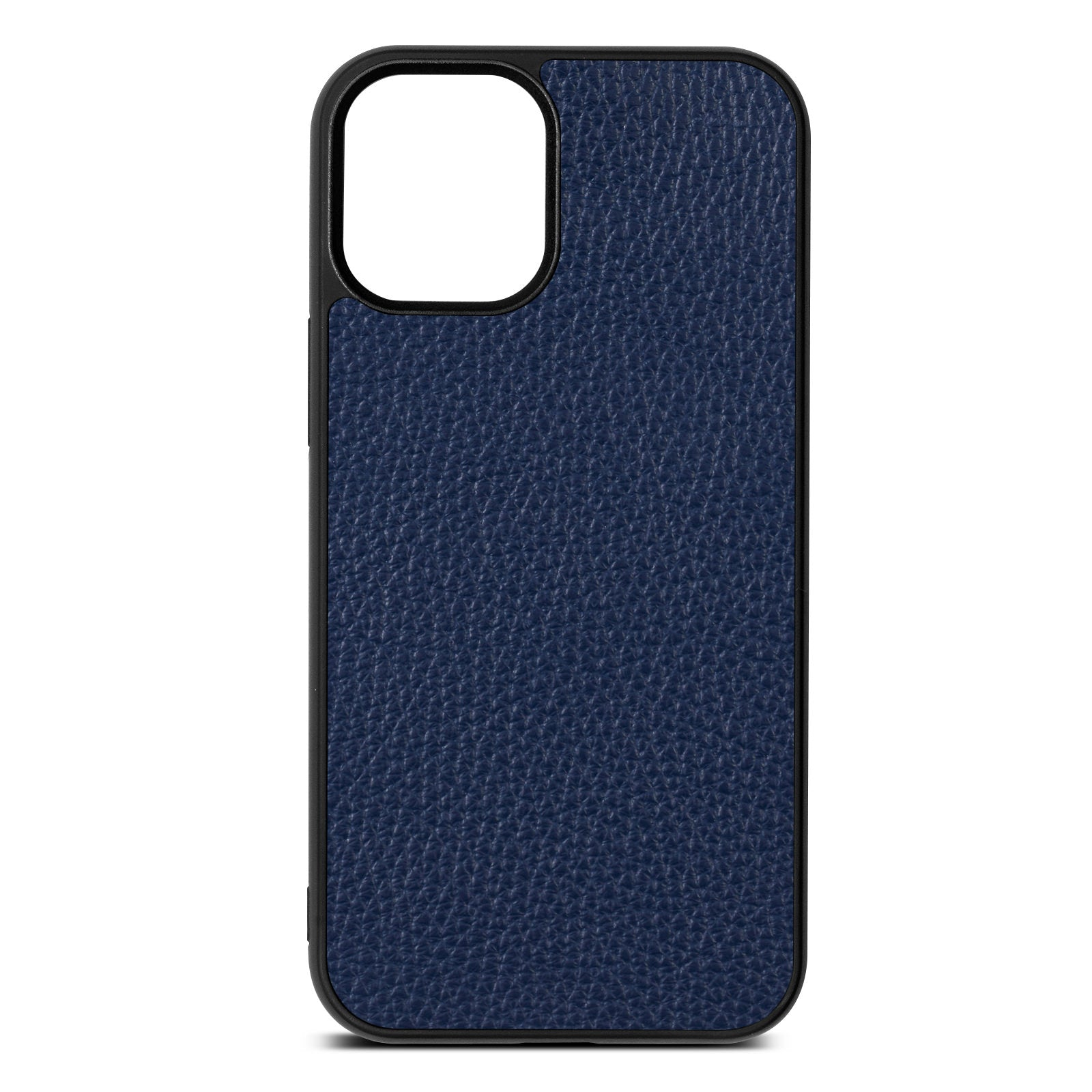 Blank iPhone 12 Mini Navy Blue Pebble Grain Leather Case