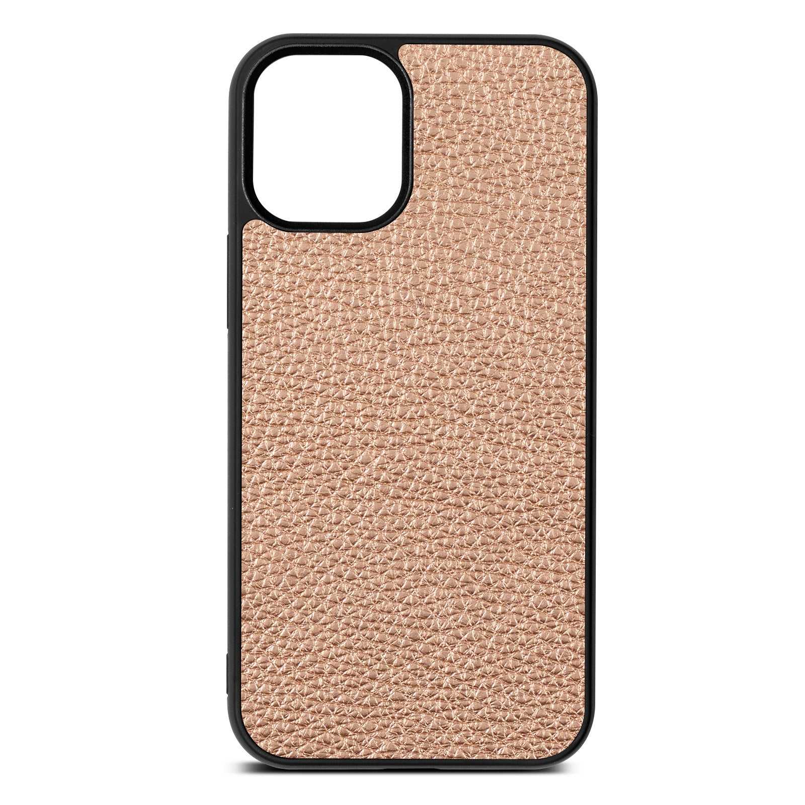 Blank iPhone 12 Mini Rose Gold Pebble Leather Case