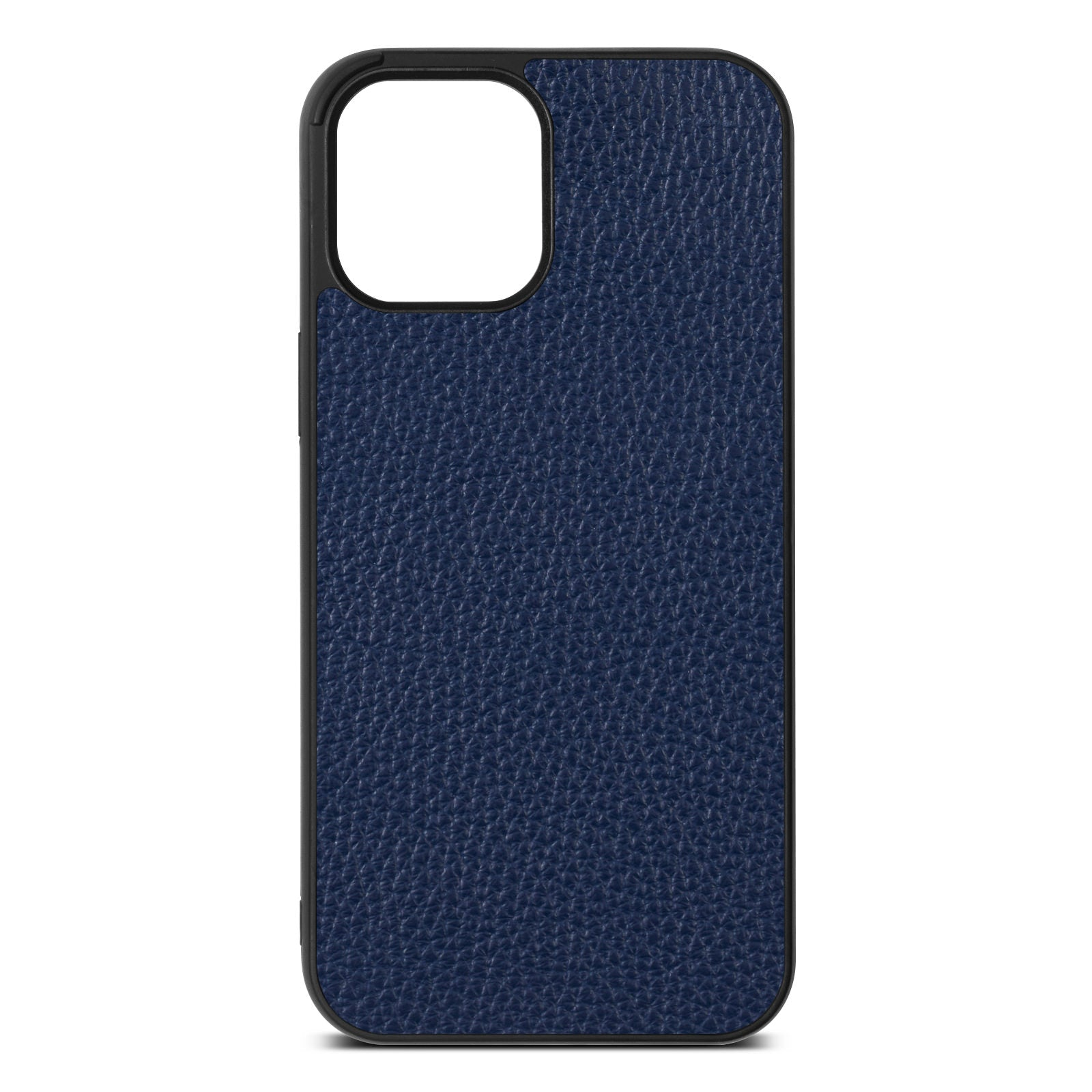 Blank iPhone 12 Pro Max Navy Blue Pebble Grain Leather Case
