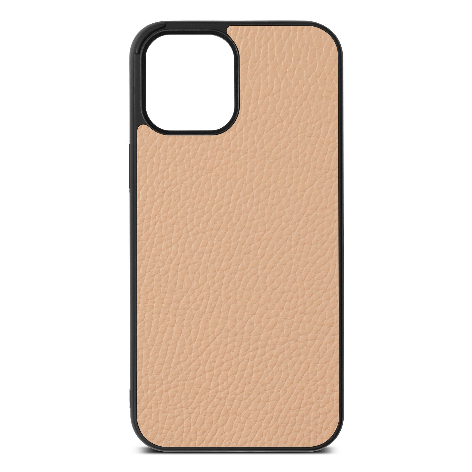 Blank iPhone 12 Pro Max Nude Pebble Leather Case