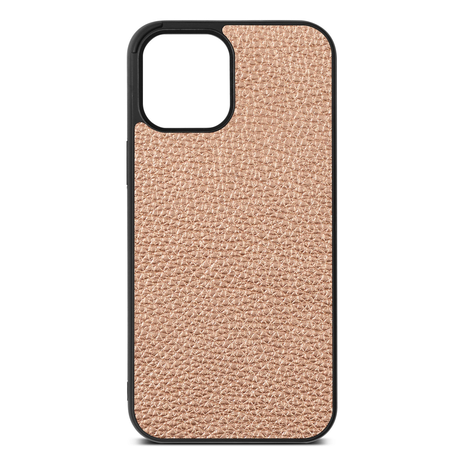 Blank iPhone 12 Pro Max Rose Gold Pebble Leather Case