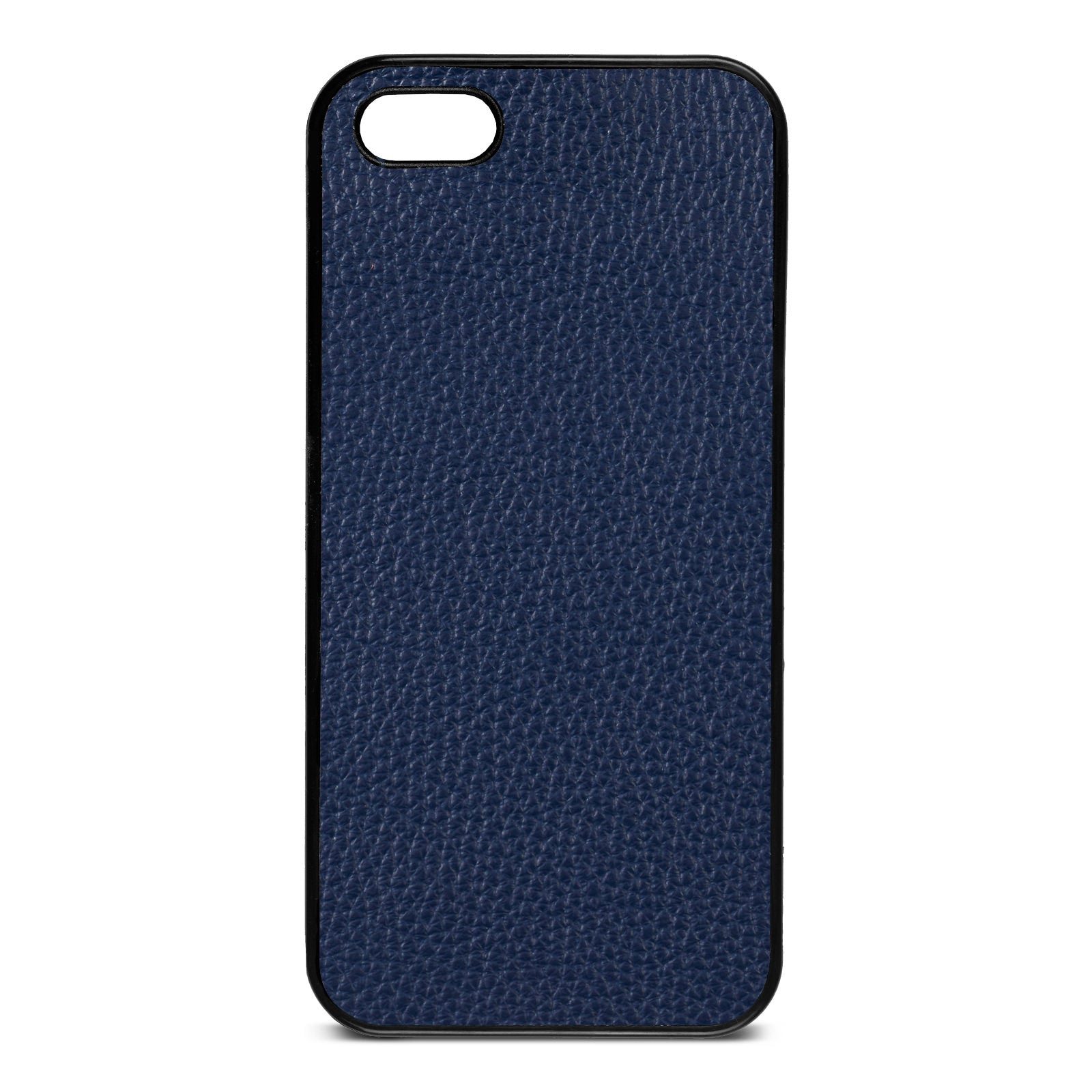 Blank iPhone 5 Navy Blue Pebble Grain Leather Case