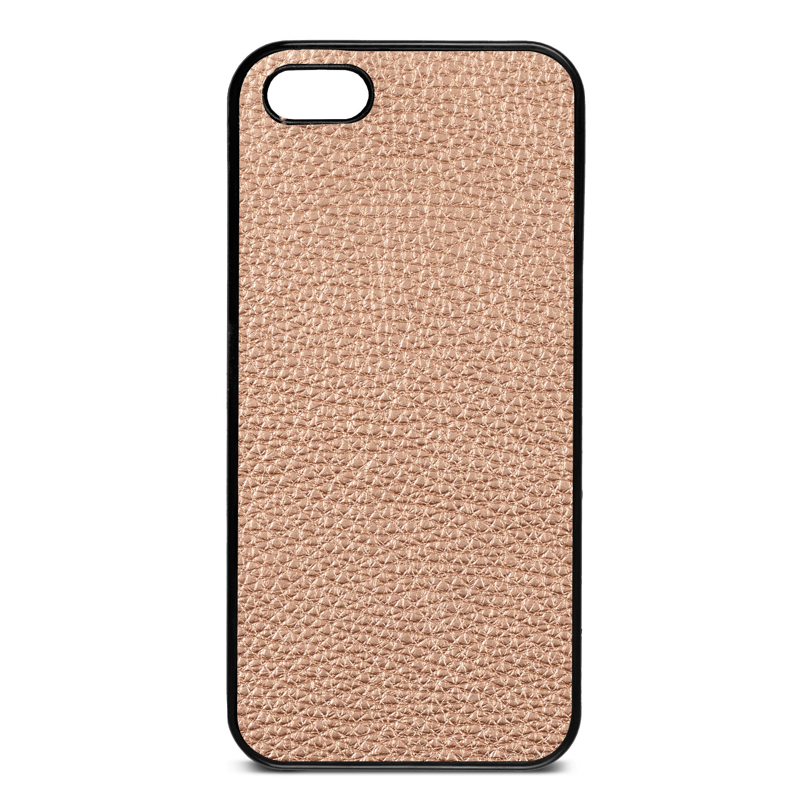 Blank iPhone 5 Rose Gold Pebble Leather Case