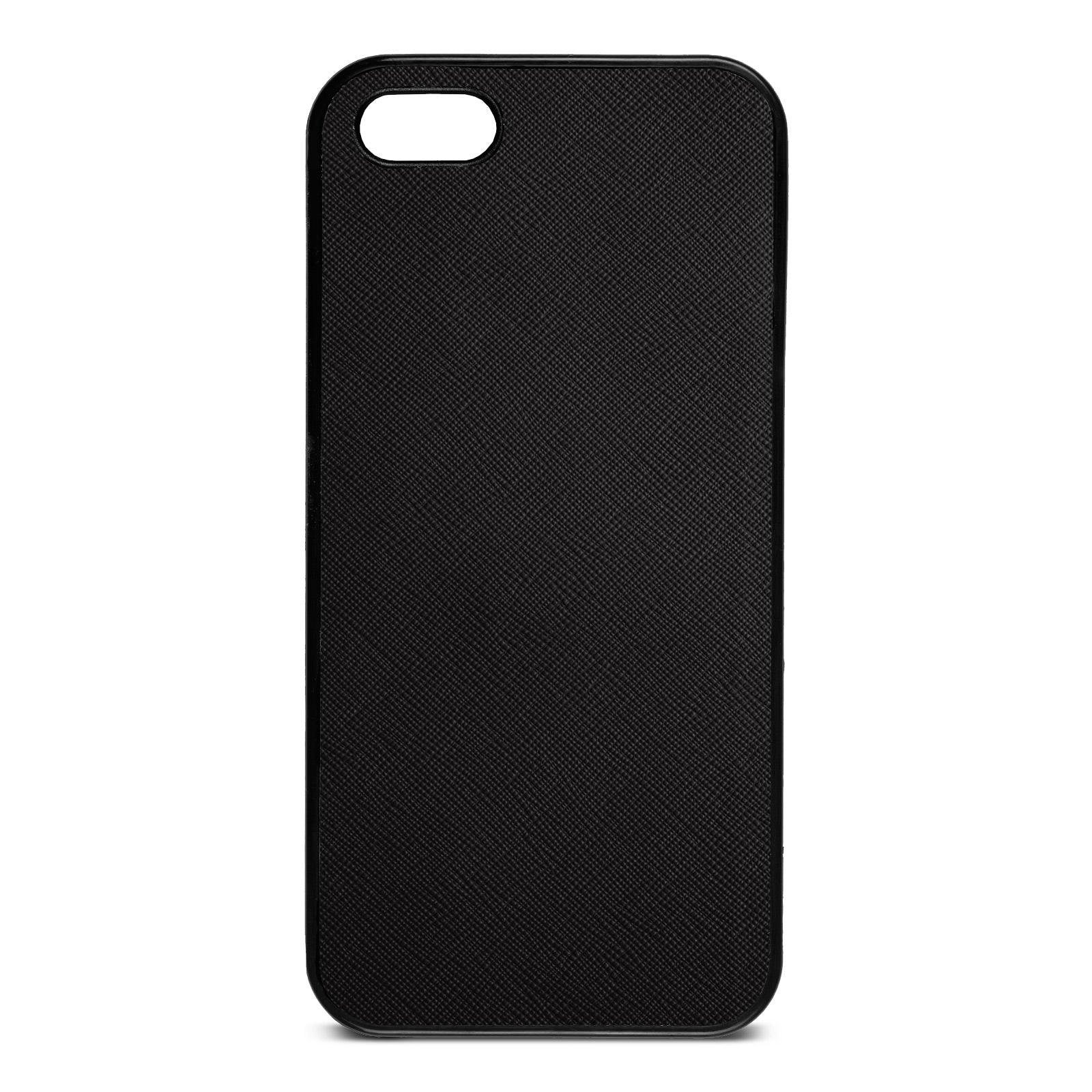 Blank iPhone 5 Drop Shadow Black Leather Case