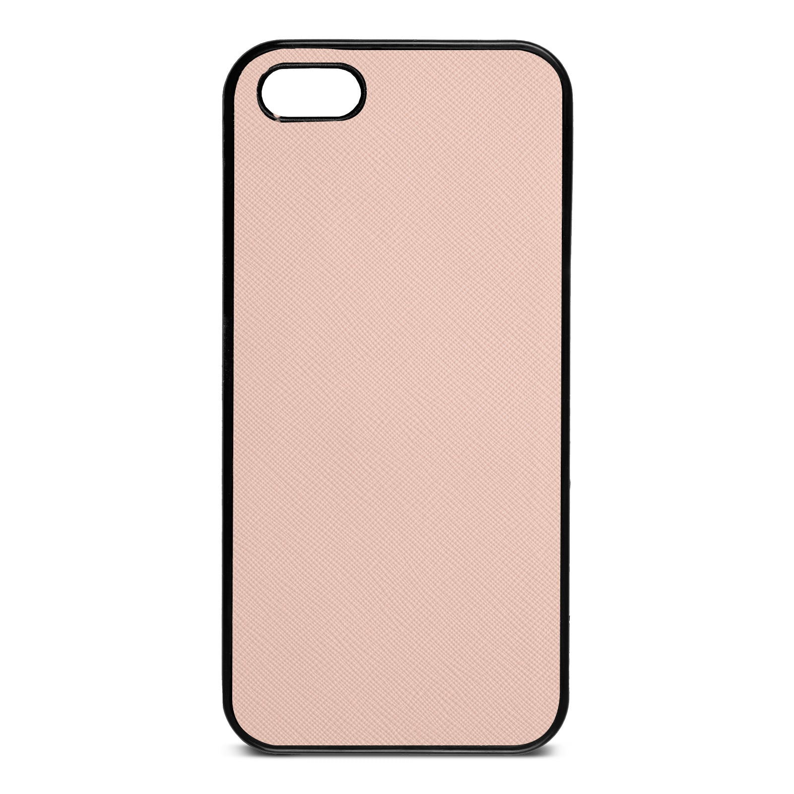 Blank Personalised Nude Saffiano Leather iPhone 5 Case