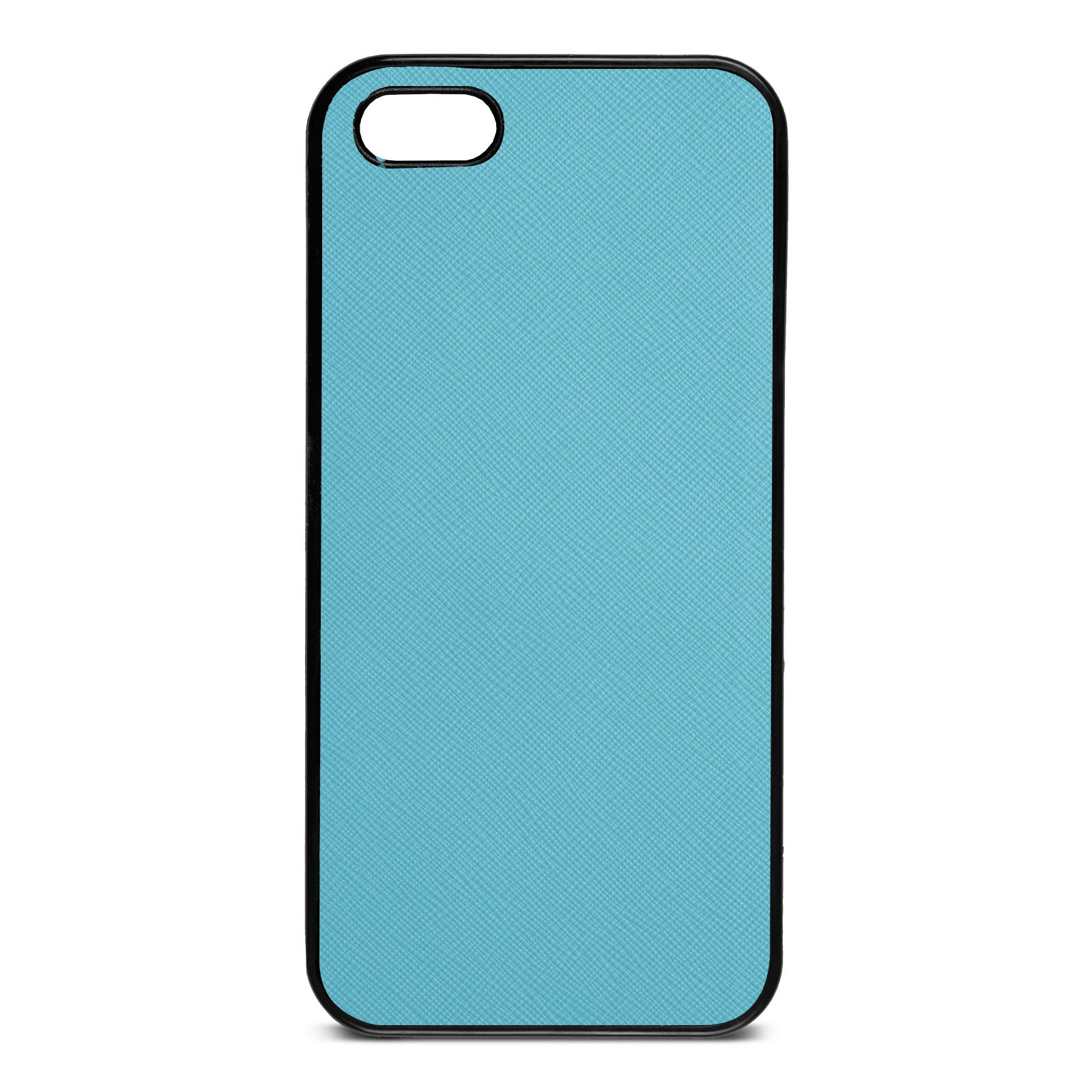 Blank Personalised Sky Blue Saffiano Leather iPhone 5 Case