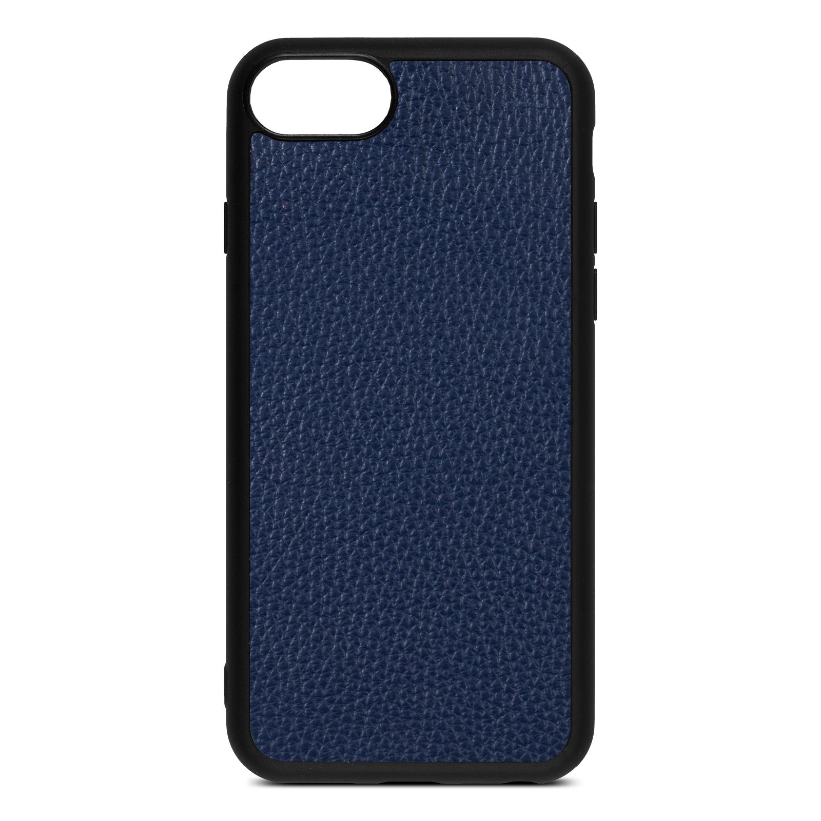 Blank iPhone 8 Navy Blue Pebble Grain Leather Case