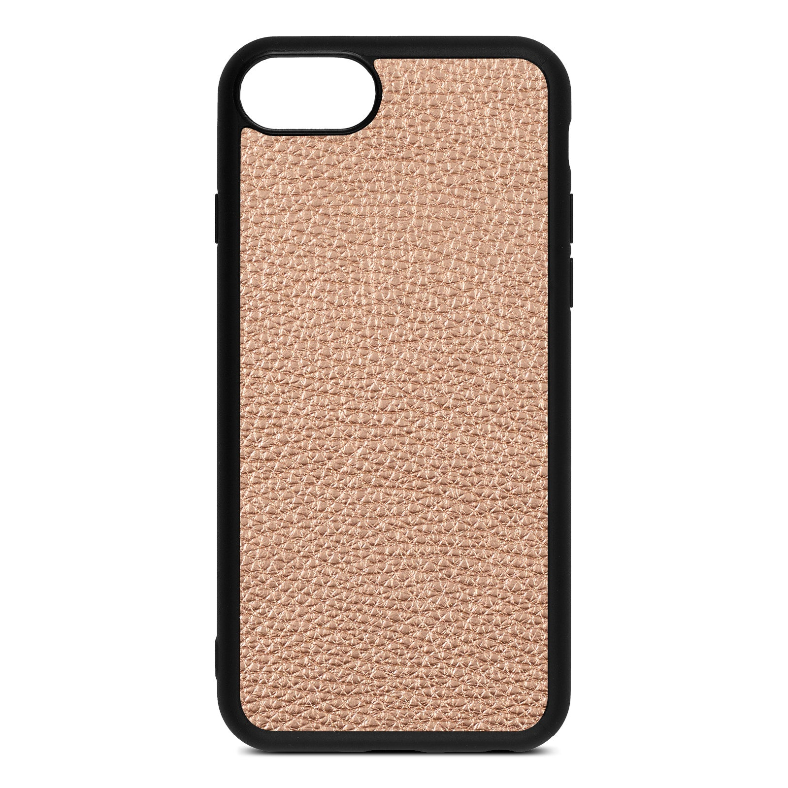 Blank iPhone 8 Rose Gold Pebble Leather Case