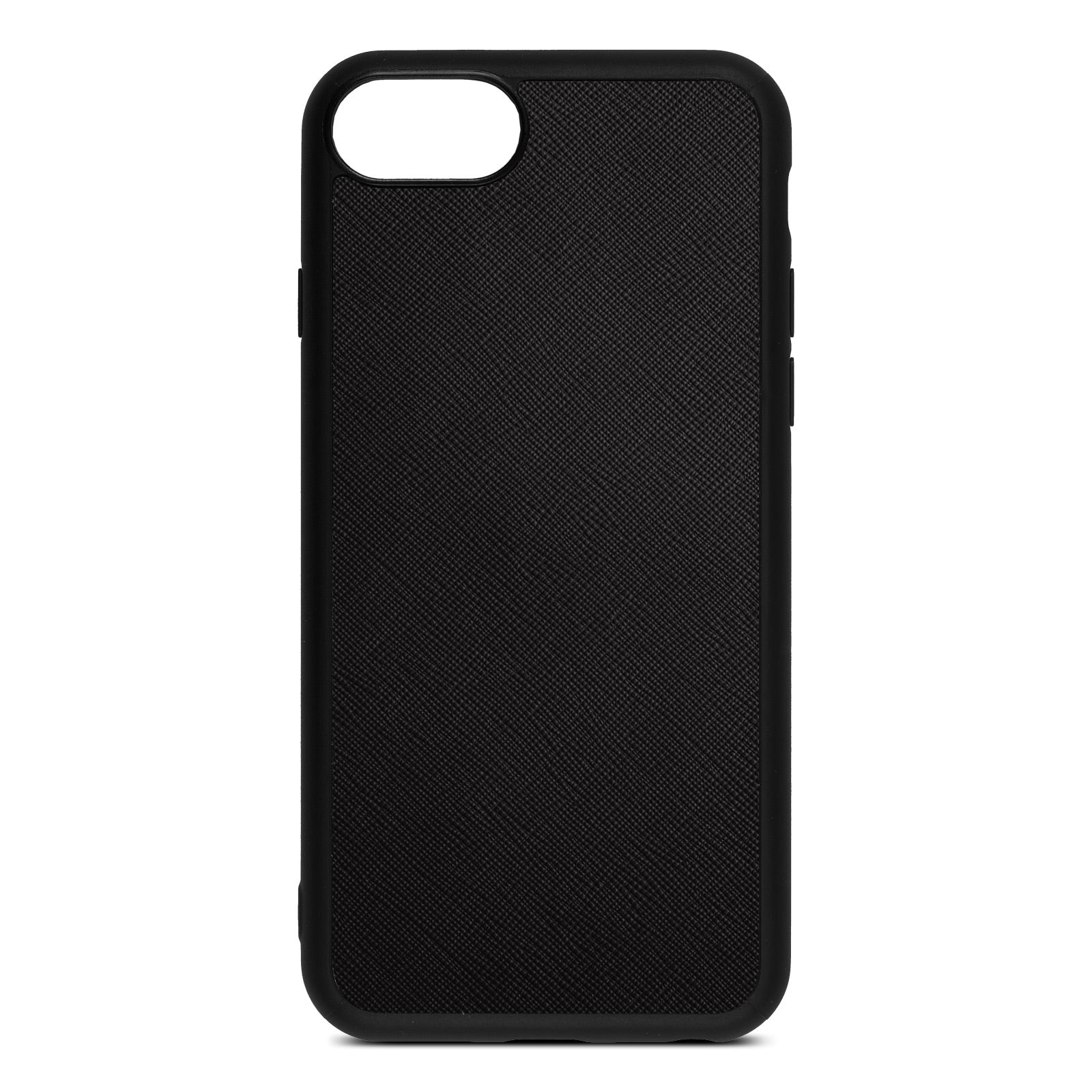 Blank iPhone 8 Drop Shadow Black Leather Case