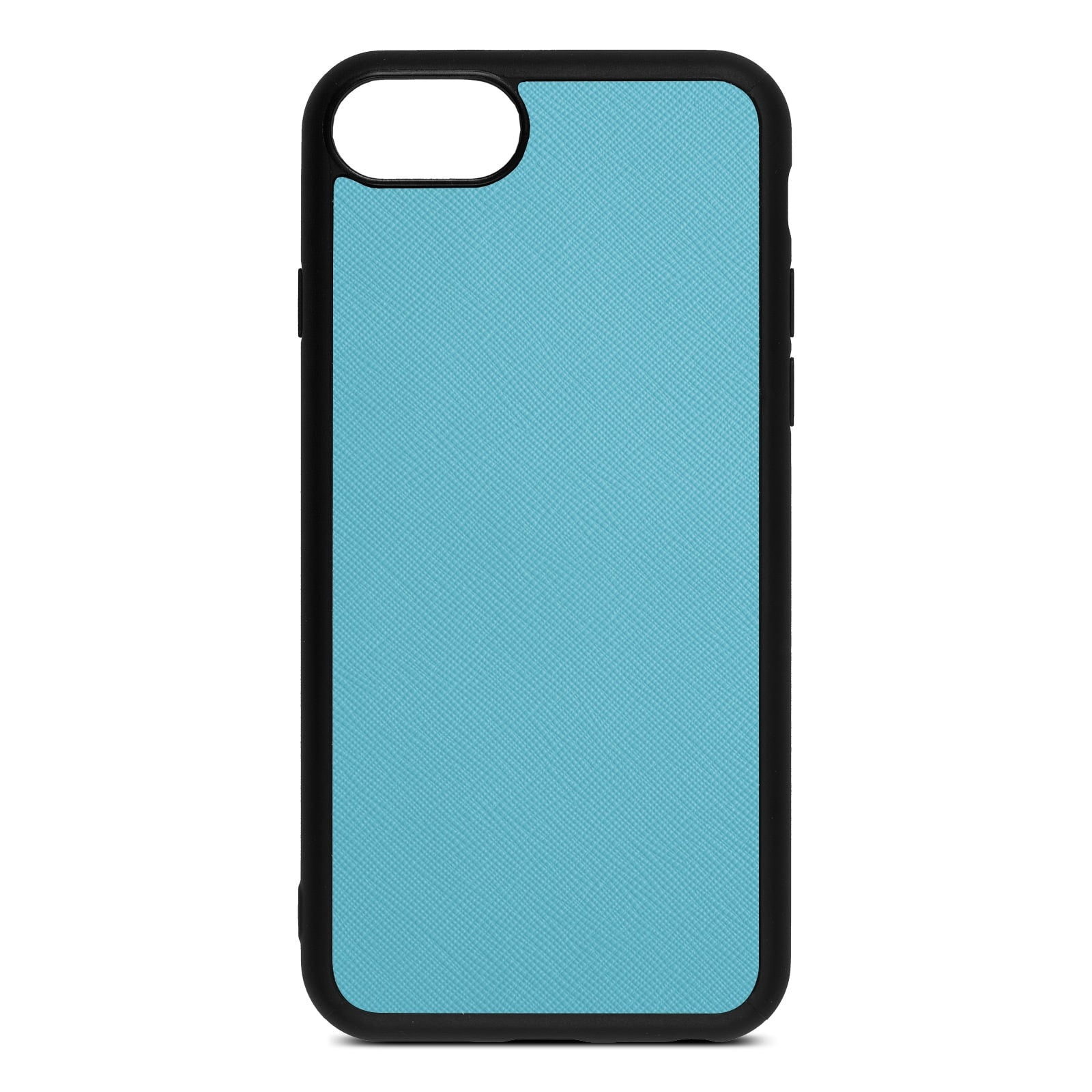 Blank Personalised Sky Blue Saffiano Leather iPhone 8 Case