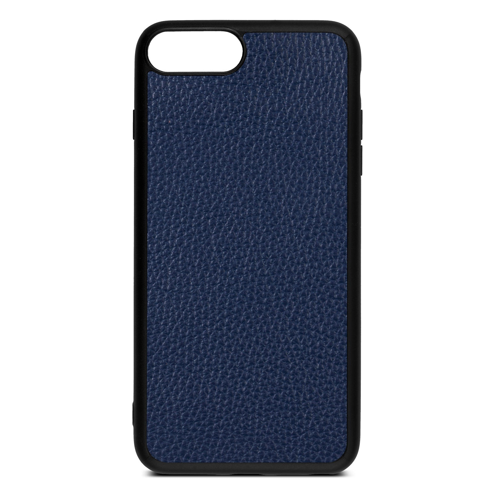Blank iPhone 8 Plus Navy Blue Pebble Grain Leather Case