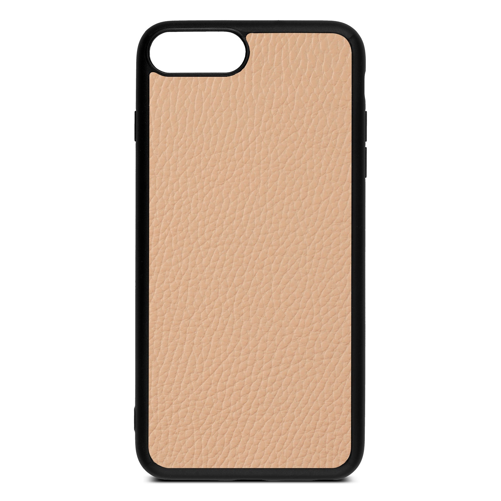 Blank iPhone 8 Plus Nude Pebble Leather Case