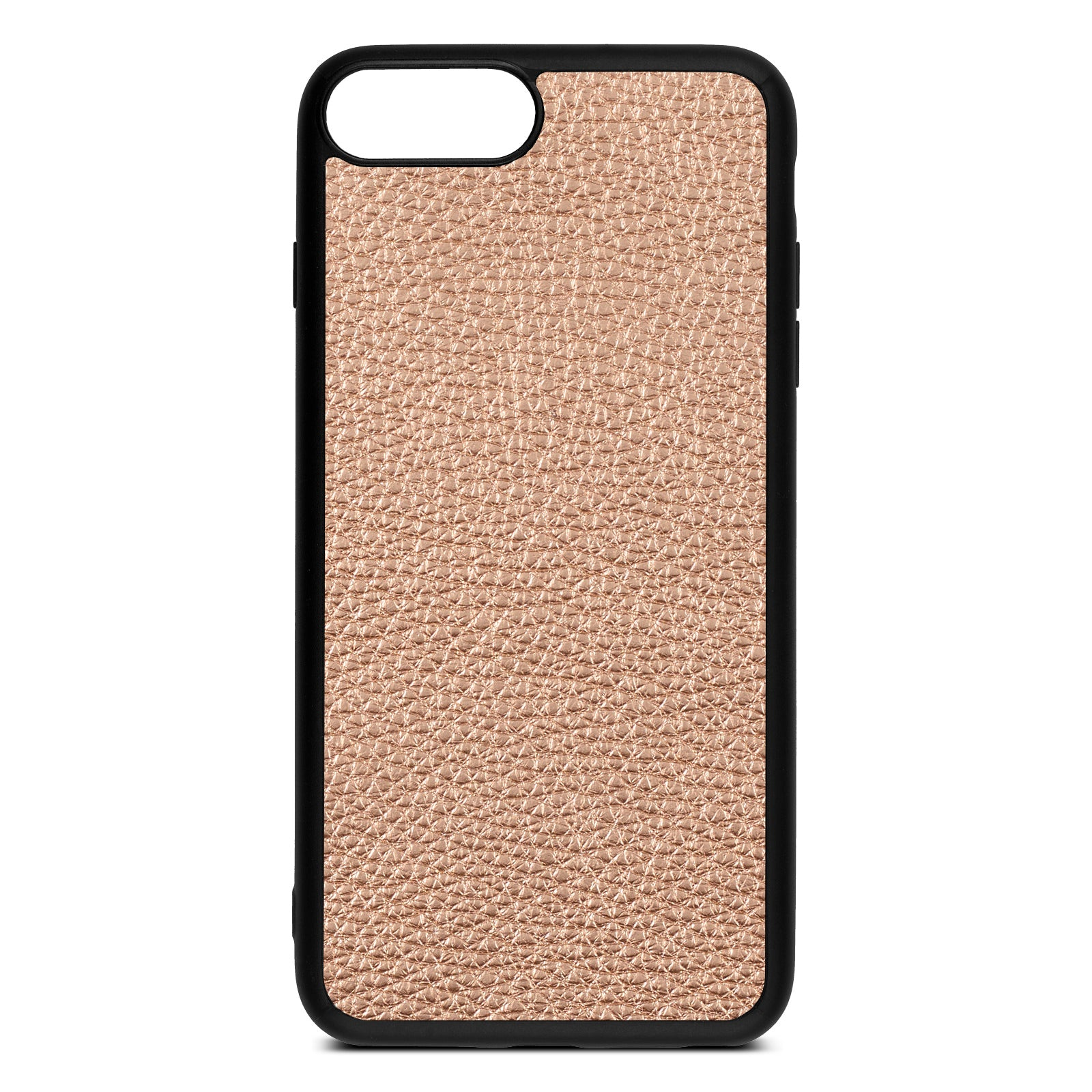 Blank iPhone 8 Plus Rose Gold Pebble Leather Case
