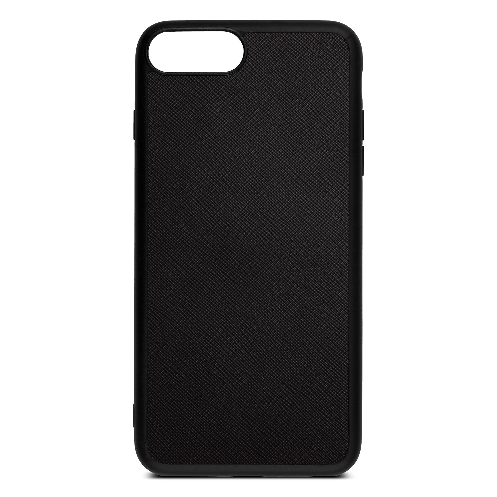 Blank iPhone 8 Plus Drop Shadow Black Leather Case