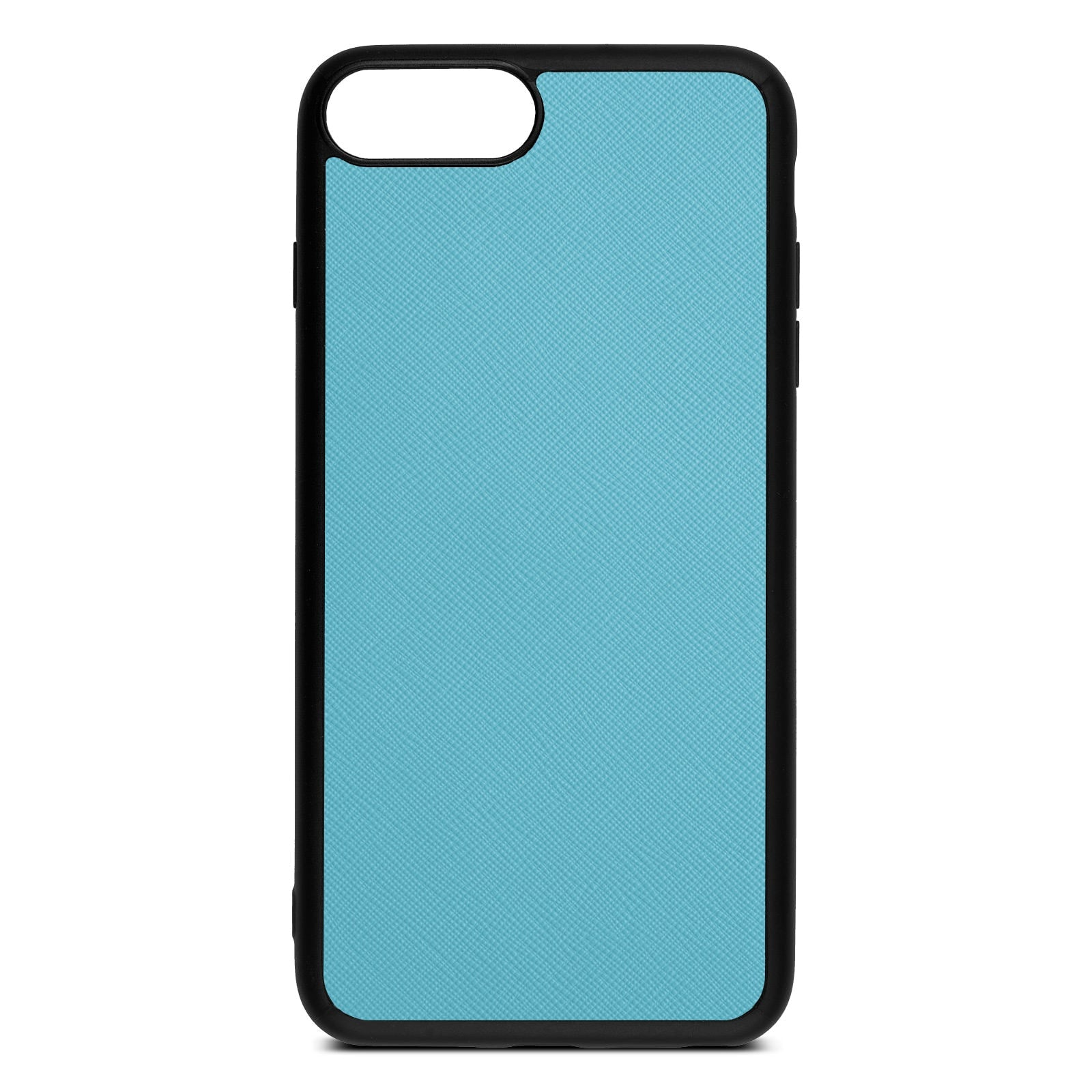 Blank Personalised Sky Blue Saffiano Leather iPhone 8 Plus Case
