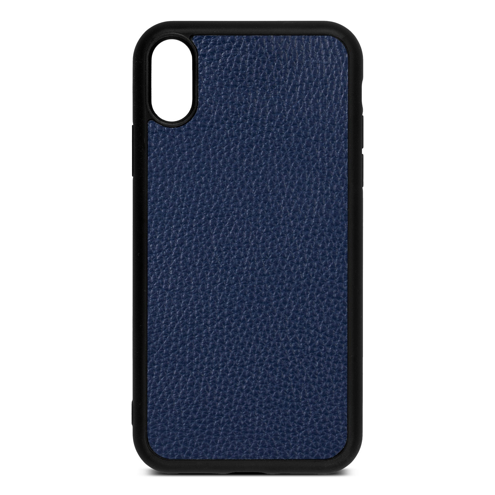 Blank iPhone Xr Navy Blue Pebble Grain Leather Case