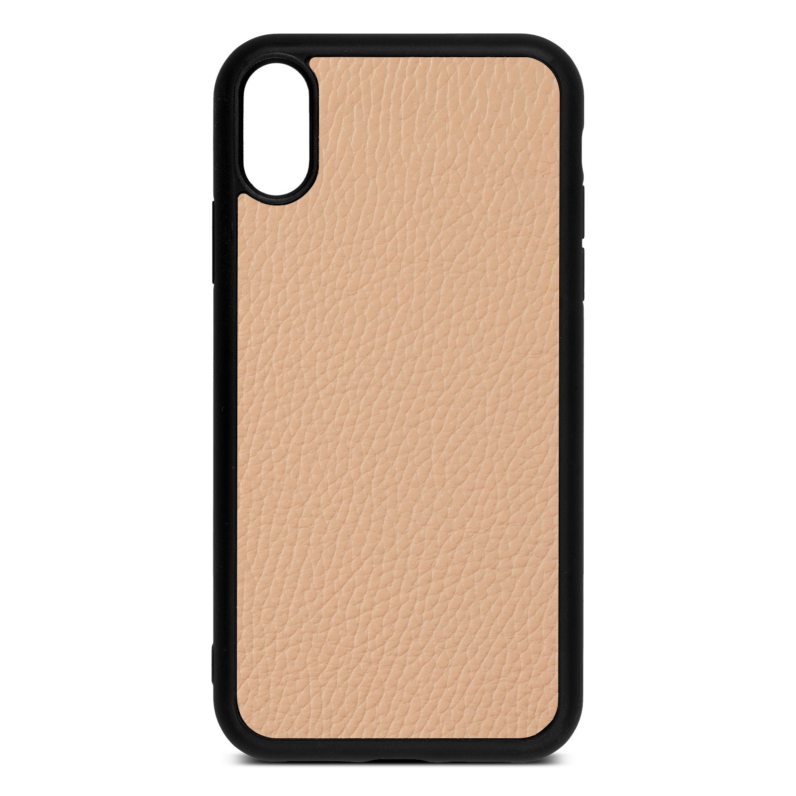 Blank iPhone Xr Nude Pebble Leather Case