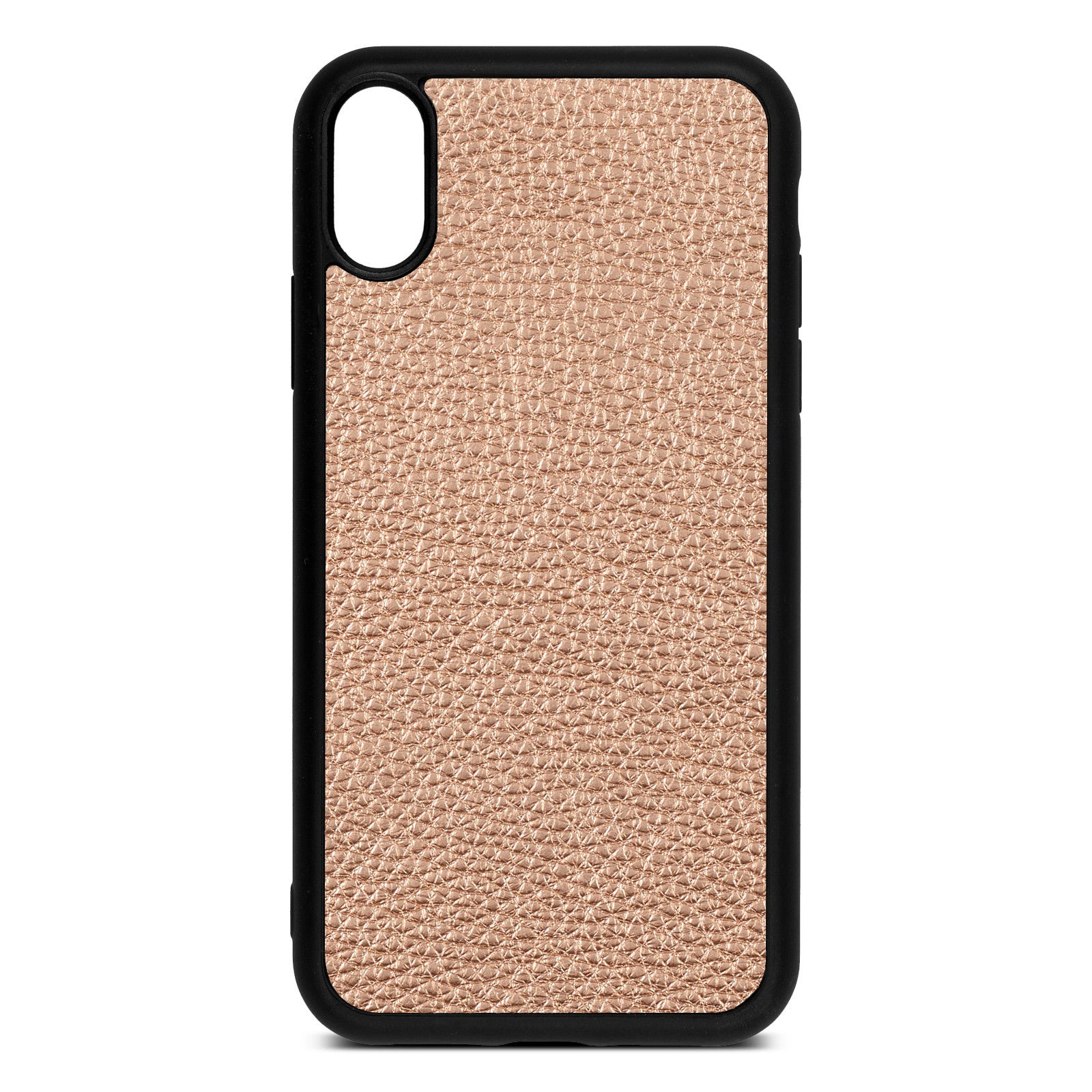 Blank iPhone Xr Rose Gold Pebble Leather Case