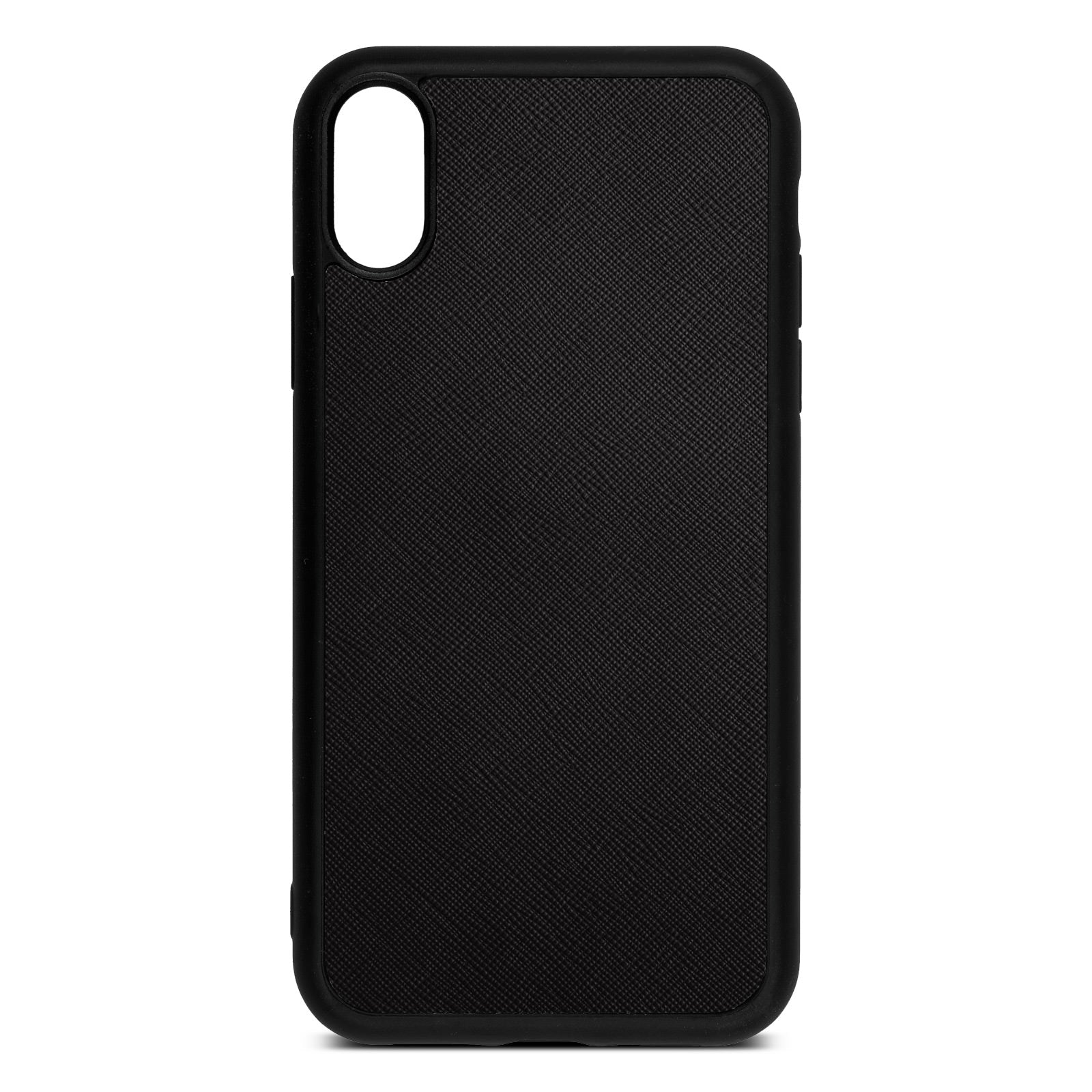 Blank iPhone XR Drop Shadow Black Leather Case