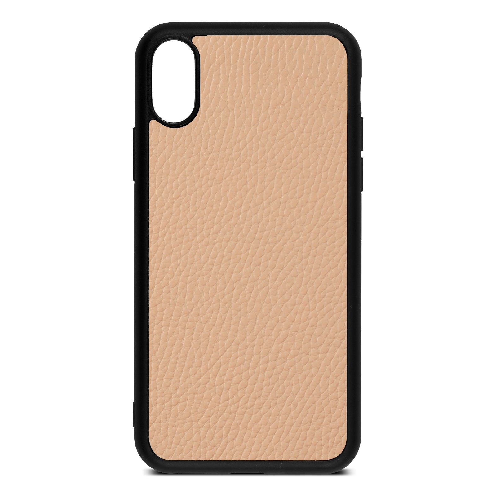 Blank iPhone Xs Nude Pebble Leather Case
