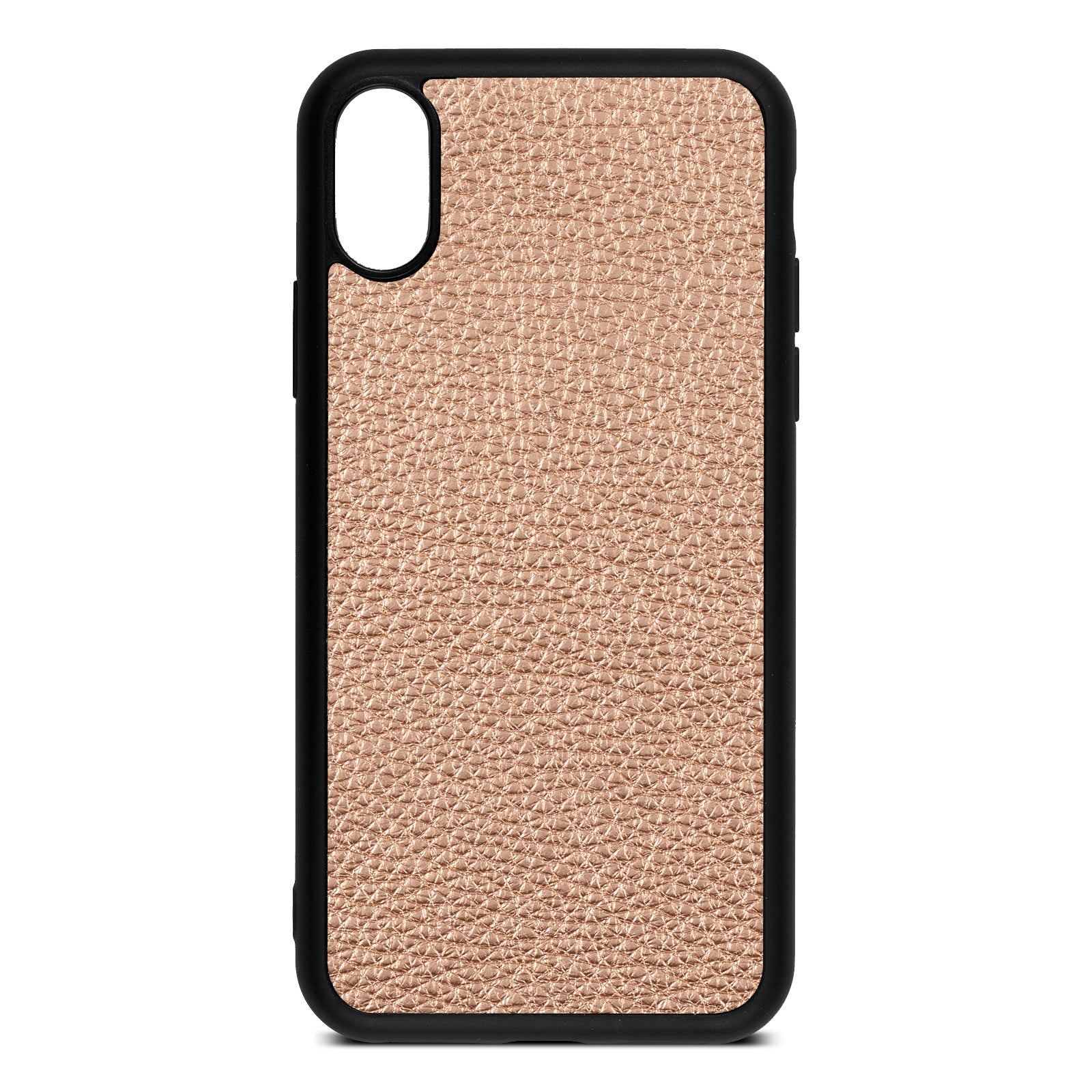 Blank iPhone Xs Rose Gold Pebble Leather Case