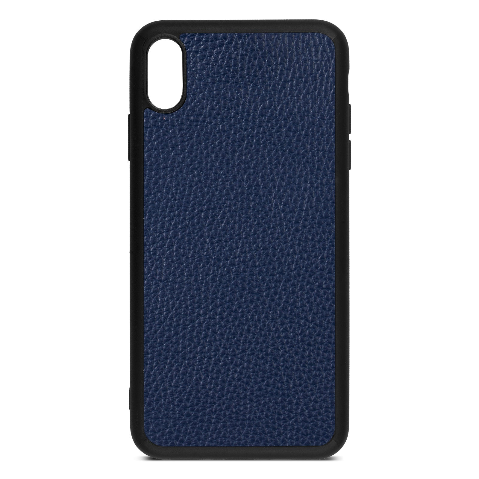 Blank iPhone Xs Max Navy Blue Pebble Grain Leather Case