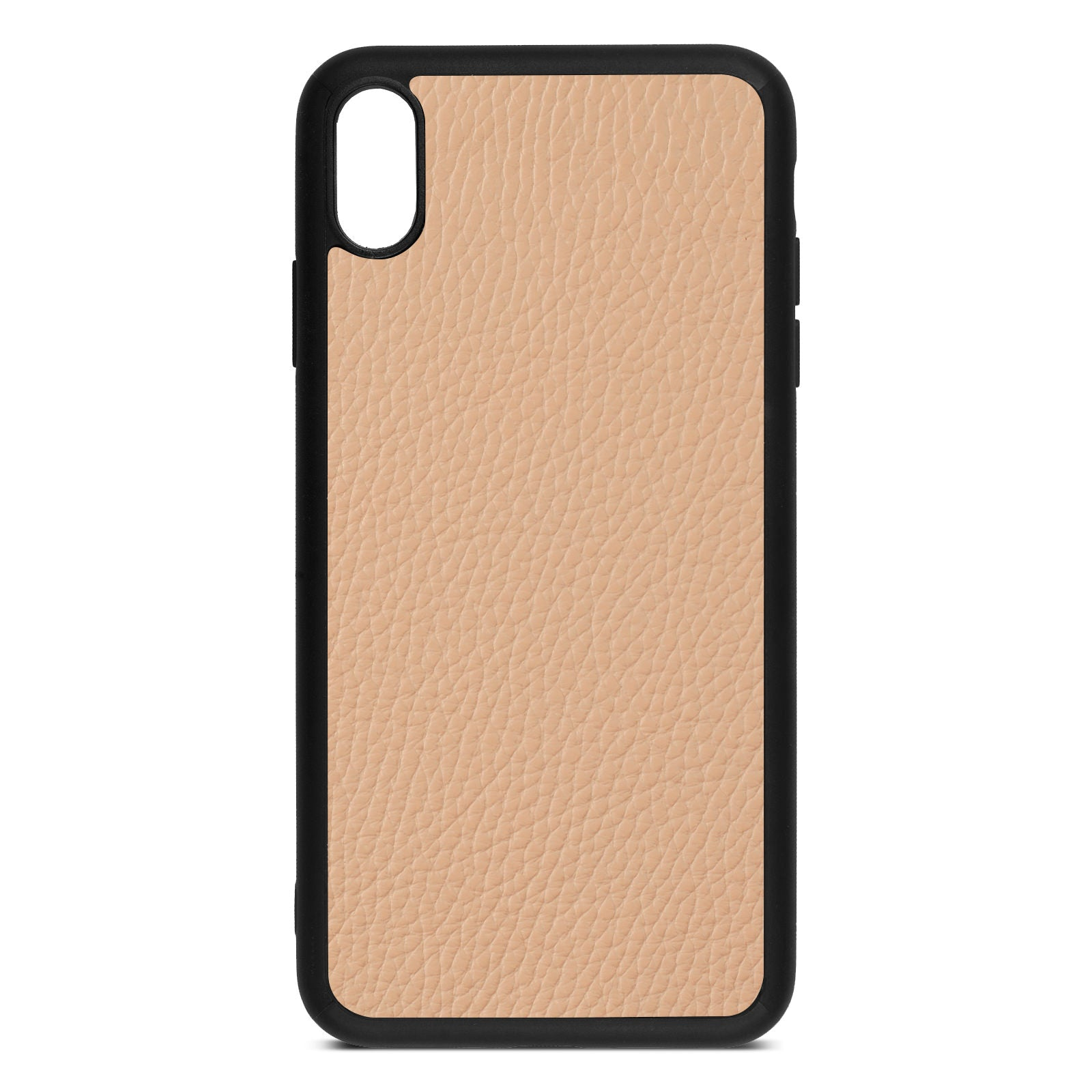 Blank iPhone Xs Max Nude Pebble Leather Case