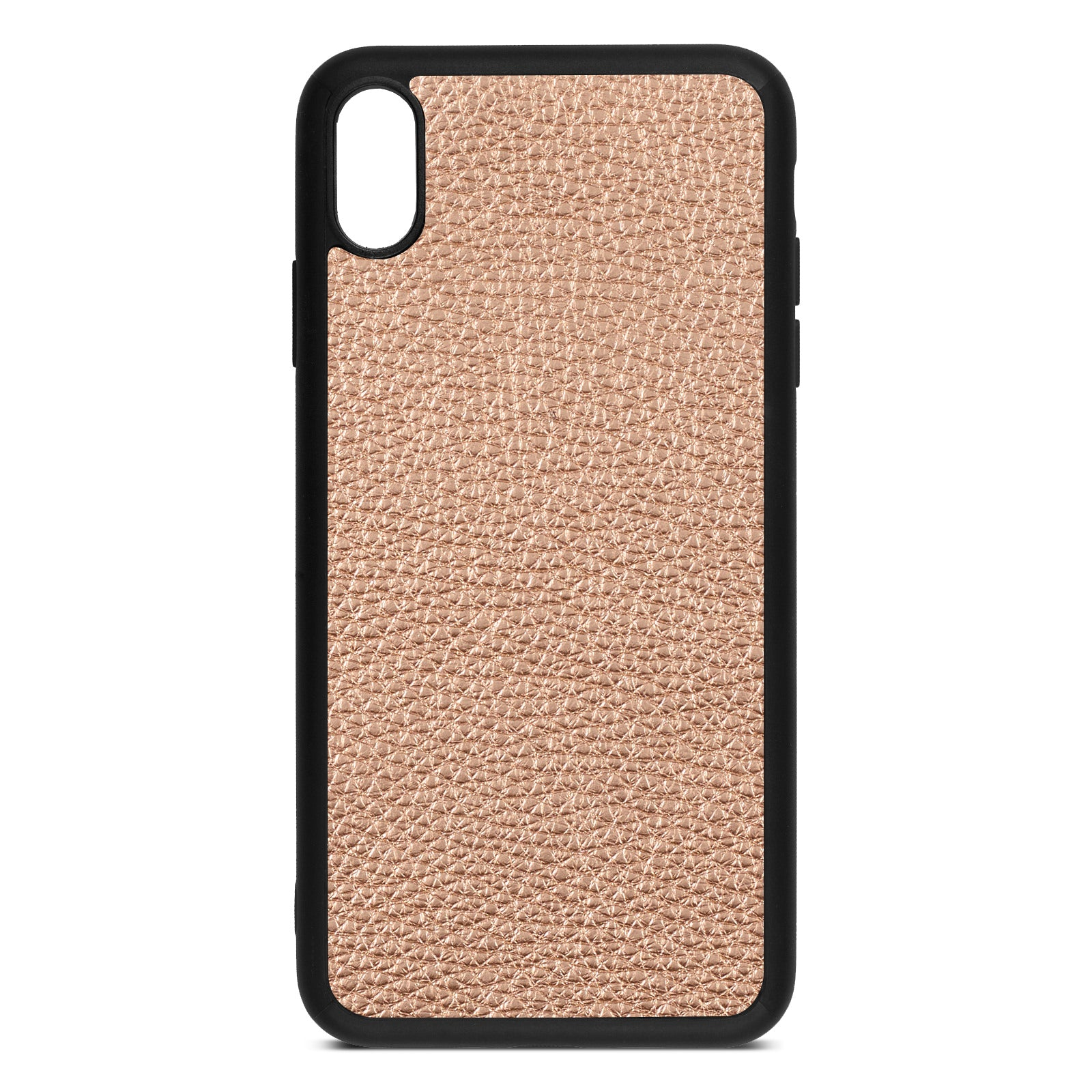 Blank iPhone Xs Max Rose Gold Pebble Leather Case