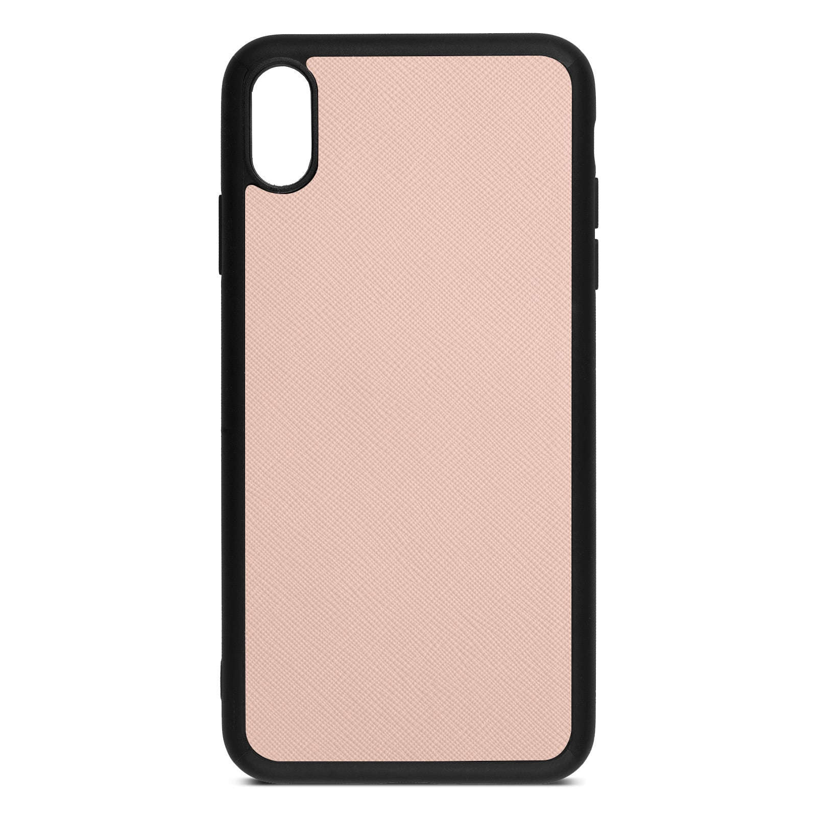 Blank Personalised Nude Saffiano Leather iPhone XS Max Case