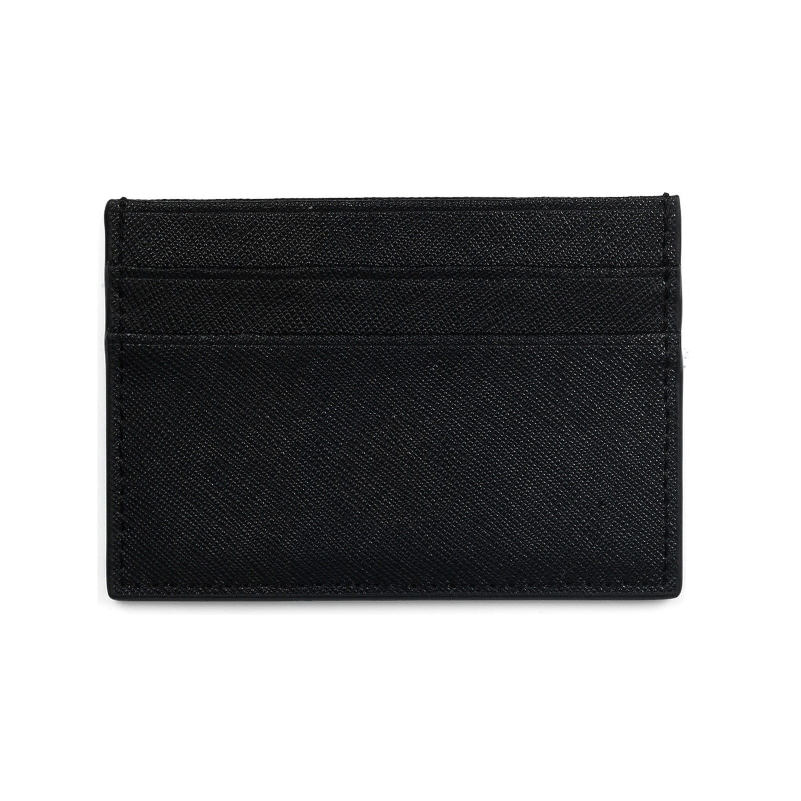 Blank Personalised Black Saffiano Leather Card Holder