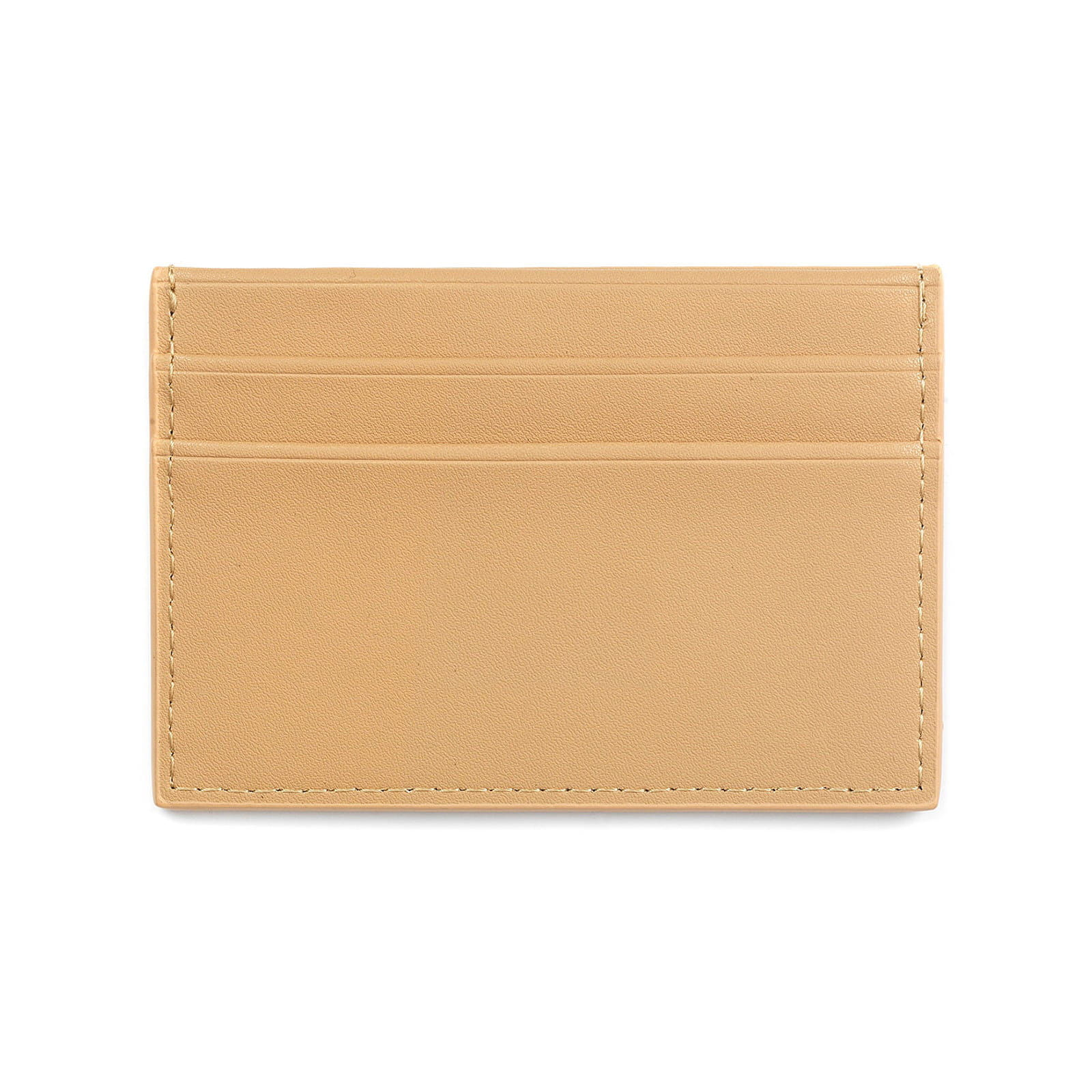 Blank Personalised Caramel Smooth Leather Card Holder